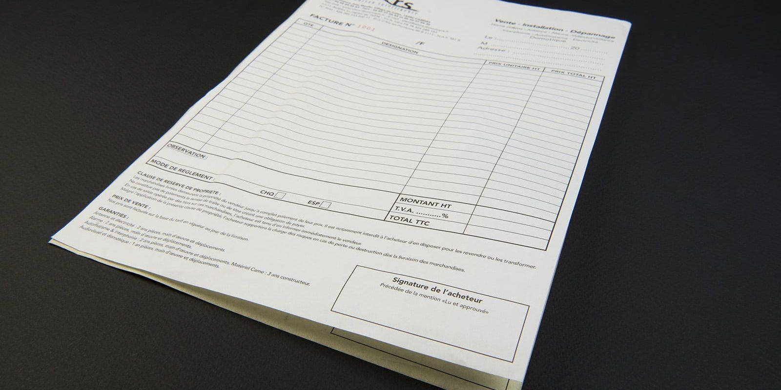 Impression carnets autocopiant