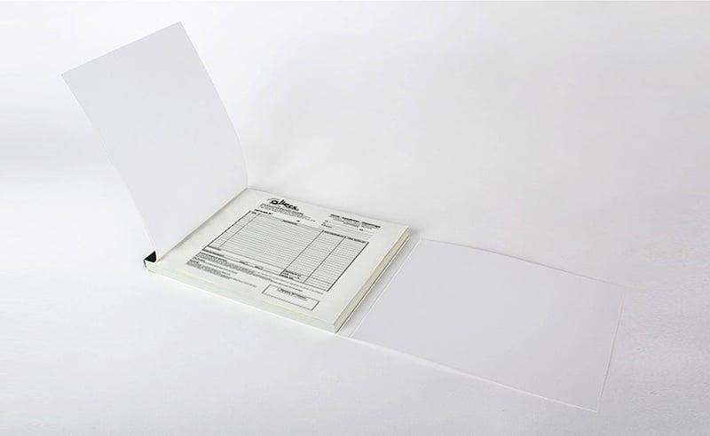 Impression carnet autocopiant ouvert