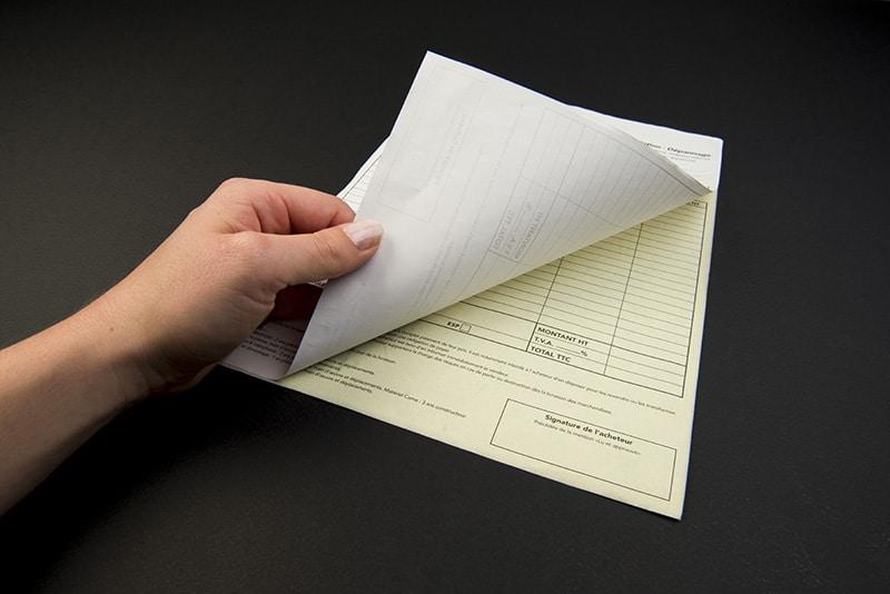 Impression carnet autocopiant