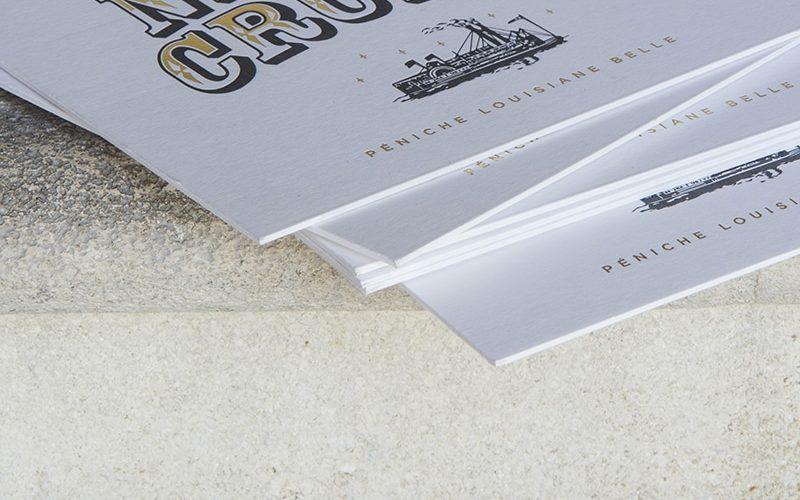 Impression carton d'invitation contre collé