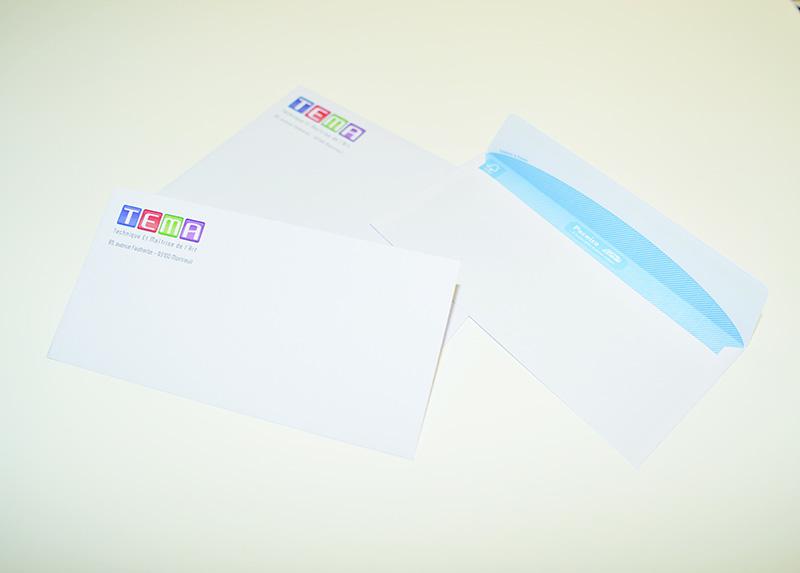 Impression enveloppes recto
