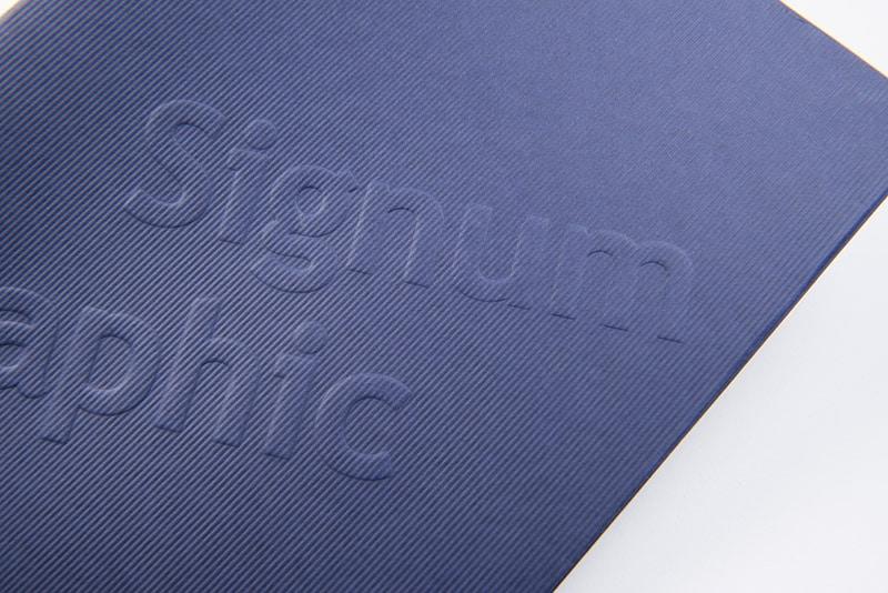 Impression gaufrage Signum