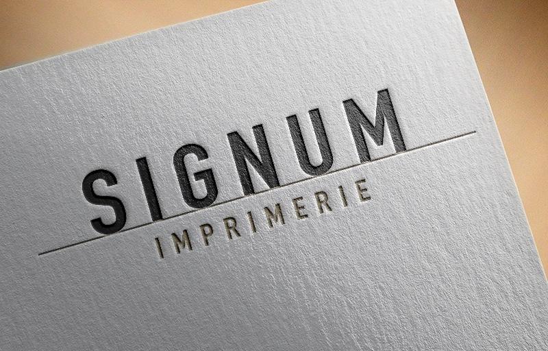 Impression letterpress Signum