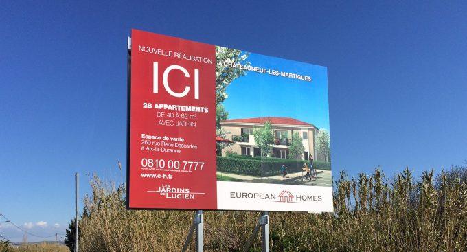 Panneau immobilier exterieur
