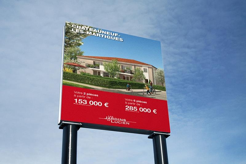 Impression panneau immobilier