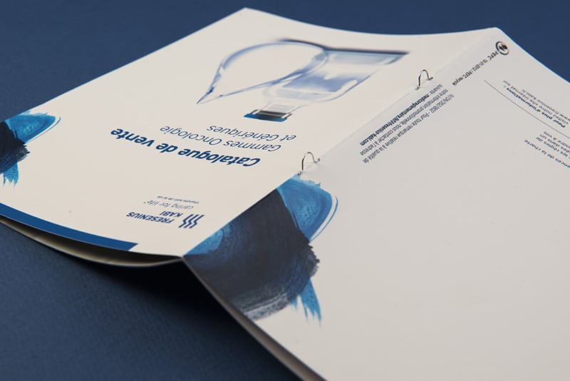 Reliure brochure catalogue