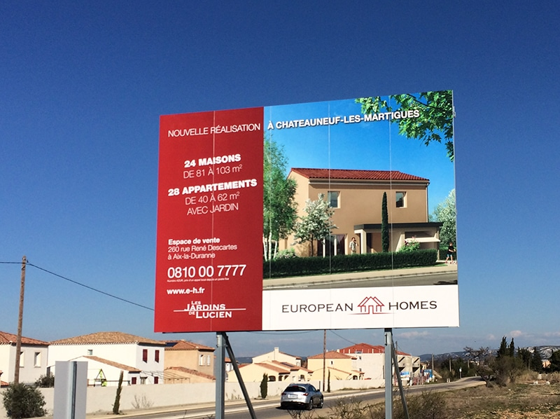 Impression panneau de chantier immobilier