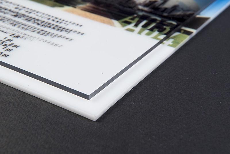 Impression plexi plaque