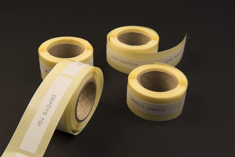 Impression etiquettes adhesives en rouleau